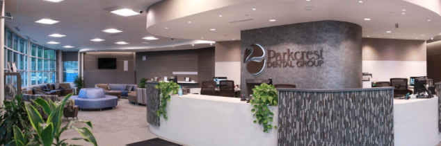 Parkcrest Dental Group front office banner image.