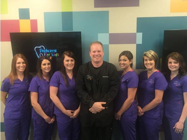 Pediatric dental staff at Parkcrest Dental Group.