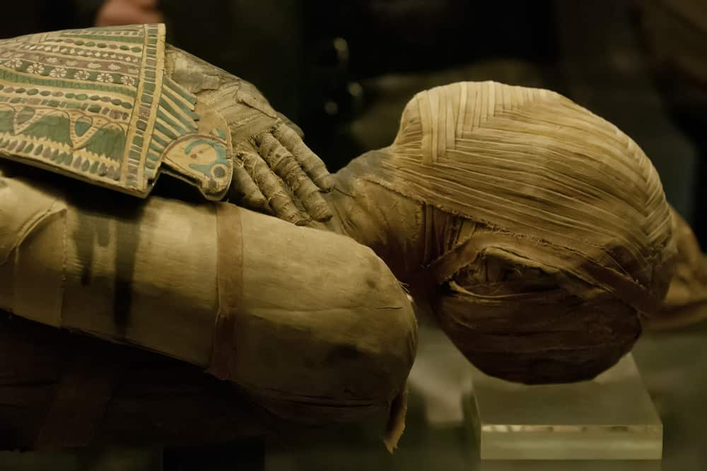 Ancient Egyptian Mummy After Receiving Dental Implant