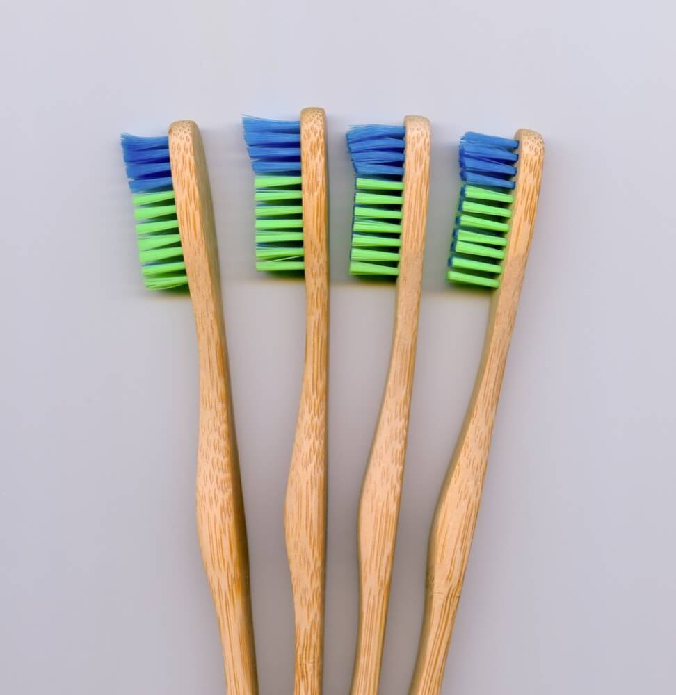 colorful bamboo toothbrush, set of four