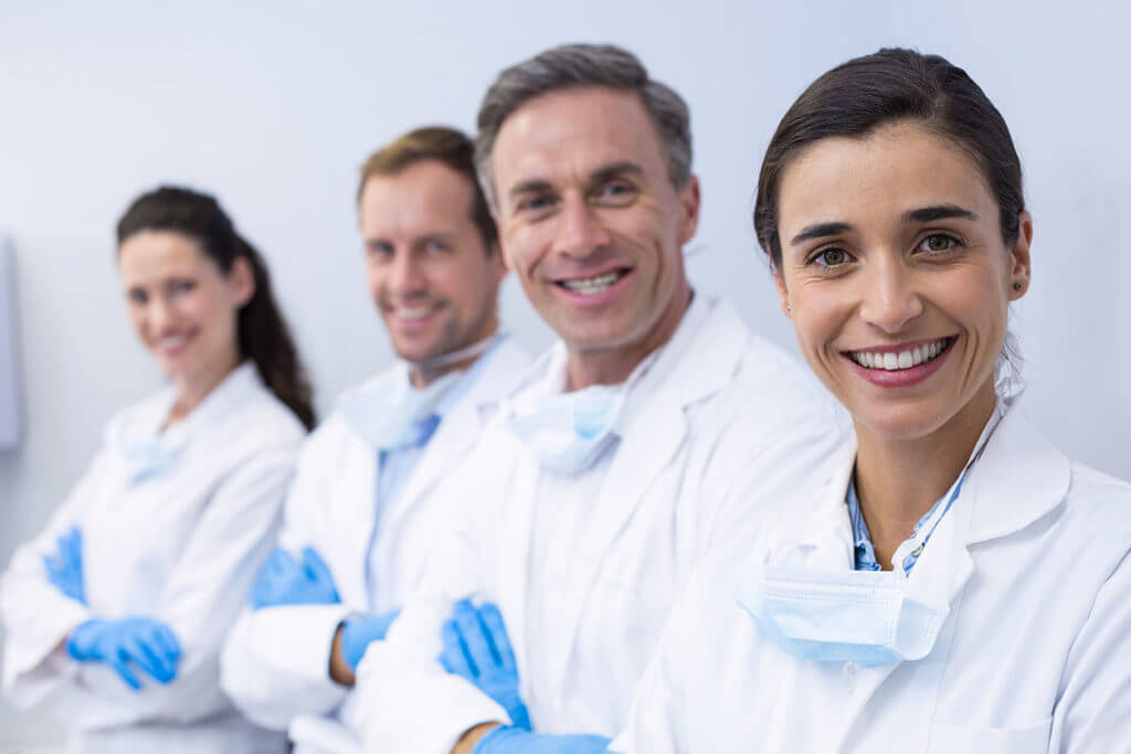 Professional orthodontic team.