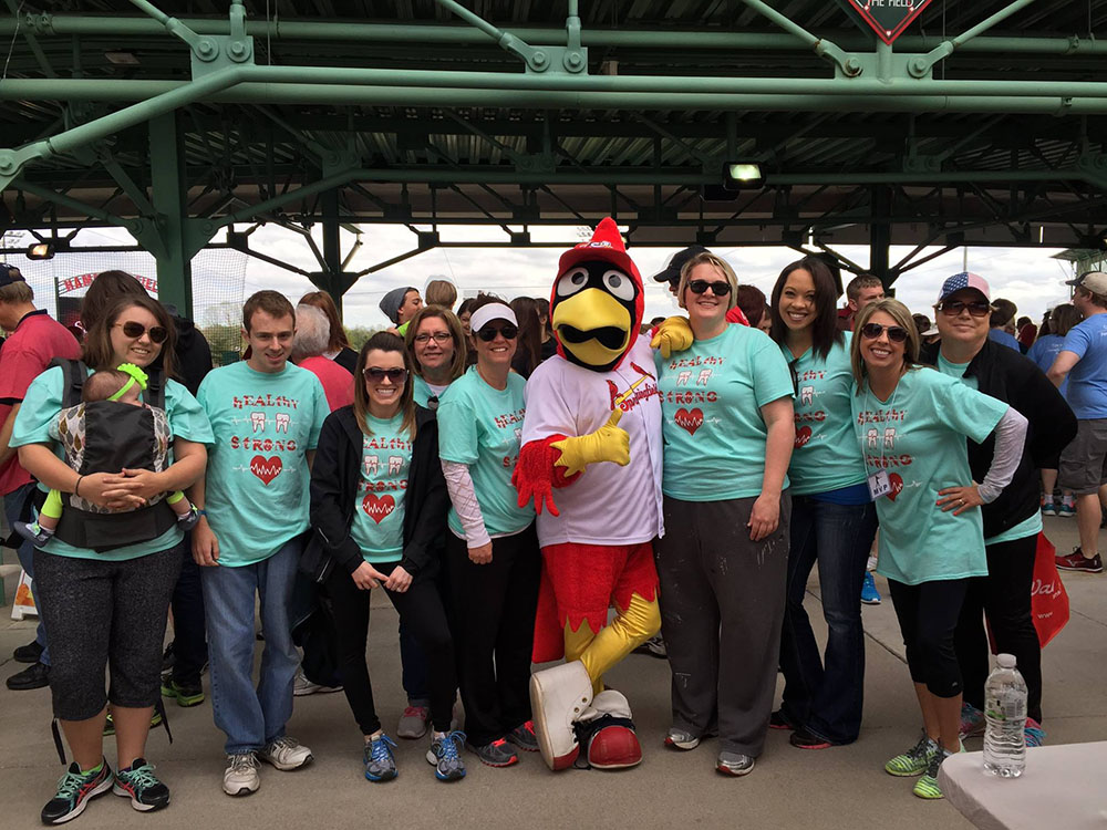 Parkcrest team with the Springfield Cardinals